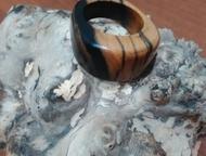 перстни, кольца из экзотических пород дерева Перстень ручной работы. Перстень из лунного эбена. Бледно-лунный эбен – это коммерческая разновидность эб, Ачинск - Бижутерия