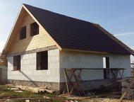 Продается дом Продается строящийся дом, пл. 141 кв. м, с земельным участком, пл. 5 соток, расположенный в д. Березовка, мкр. Заречный, ул. Набережная., Арзамас - Купить дом