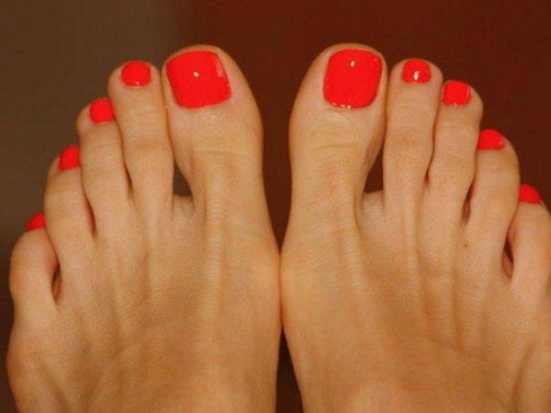 Круглая форма ногтей на ногах