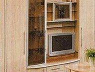 стенка Маэстро Стенка в хорошем состоянии. шкаф для книг, сервант и закрытый шкаф со стеклянными полками. ш-236, г. -44, в. -213, внутри по 6 полок, т, Гатчина - Мебель для гостиной