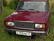 продаются жигули 2107 Машина в хорошем состоянии, гаражное хранение, использовалась только летом. Цвет тёмно бордовый. Пробег 19000 км. Куплена в нояб, Гатчина - Купить авто с пробегом