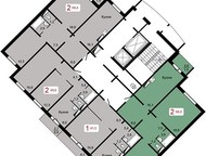 Красноярск: Инвестор- продает 2 комн, долевое М, Годенко-2стр-2, 3(ГДК) продам- 2 комн. долевое М. Годенко-2. стр-2. 3 ( Киренского- М. Годенко) 8/14-панель-68м.