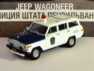 полицейские машины мира №39 Jeep wagoneer полиция штата Пенсильвания цвет:бело-синий, масштаб:1:43, сделан из металла и пластика, модель в блистере, ж, Липецк - Коллекционирование