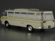 Липецк: автомобиль на службе №49 Зил-118А скорая медицинская помощь цвет:песочный, масштаб:1:43, сделан из металла и пластика, модель в блистере, с журналом