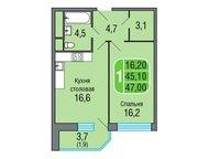 Москва: 1-комнатная квартира в Подмосковье Продается без посредников, 1-комнатная квартира в Одинцово, в новом жилом микрорайоне «Одинбург». Площадь квартиры: