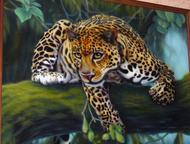 Нижний Новгород: картина гепард продам картину на холсте, маслом, в раме, 60*80 см.